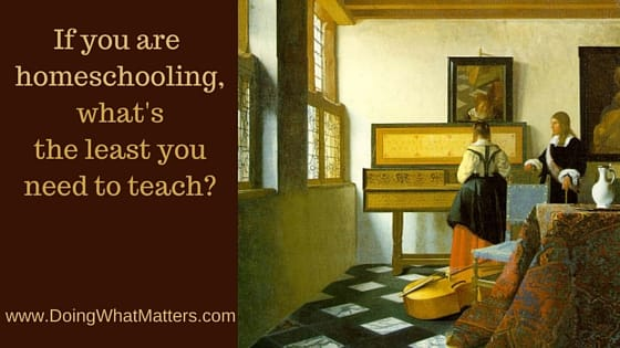What do homeschoolers need to teach?
