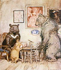 "The Three Bears . . . Goldilocks found that small was ""just right."""