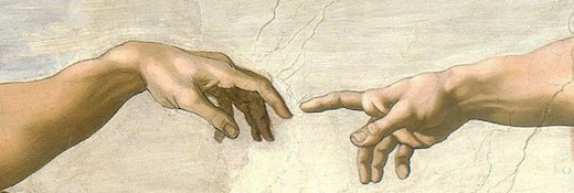 The Creation of Adam by Michelangelo Buonarroti (1475–1564)