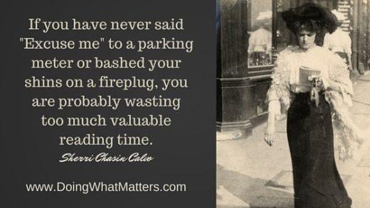 """If you have never said """"Excuse me"""" to a parking meter or bashed your shins on a fireplug, you are probably wasting too much valuable reading time."""