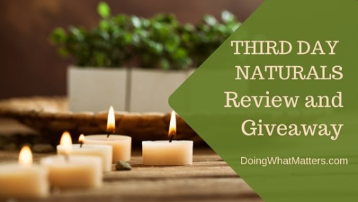 Review and giveaway of skin care products from Third Day Naturals, a homeschool family business.