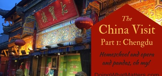 The China Visit, Part 1: Chengdu
