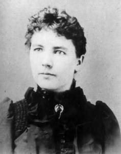 Laura Ingalls Wilder, author of the Little House books. Image in Public Domain