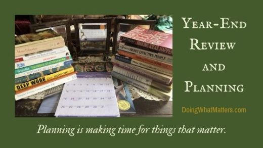 Planning is making time for things that matter.