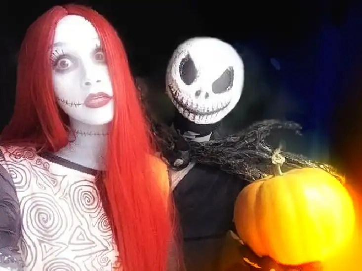 I cosplay della dolce Sally e di Jack Skeletron da Nightmare Before Christmas!