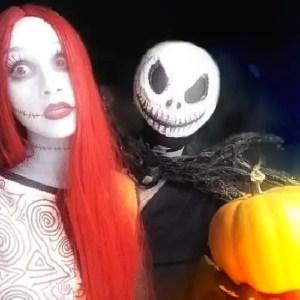 I cosplay della dolce Sally e di Jack Skeletron da Nightmare Before Christmas!