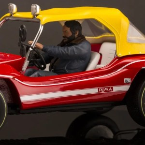 Ecco Bud Spencer al volante della Dune Buggy, il tutto in miniatura!