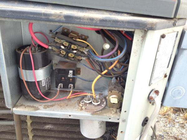 question about replacing capacitor on trane xl 1200