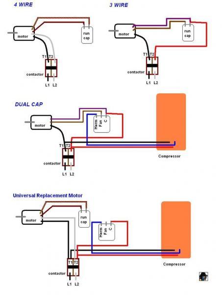 trane xe 800 condenser fan motor wiring help  doityourself