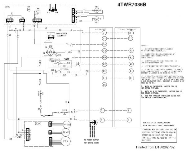 trane heat pump wiring schematic trane image heat pump thermostat wiring diagram schematic wiring diagram on trane heat pump wiring schematic