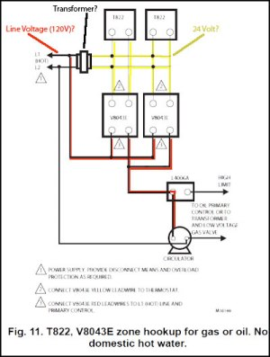 Honeywell Zone Control Valve V8043E1012 Connect to Line