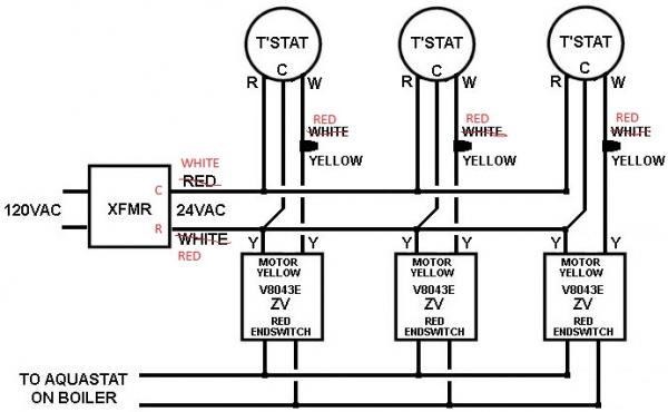 diagram 3 wire thermostat wiring diagram for a boiler full