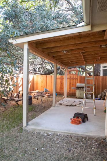 covered patio repair need advice