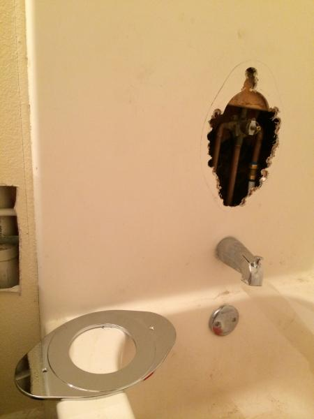 Fix Whole In Bathtub Near Faucet