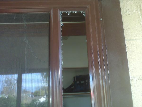 Broken Glass On Side Of Storm Door How To Replace