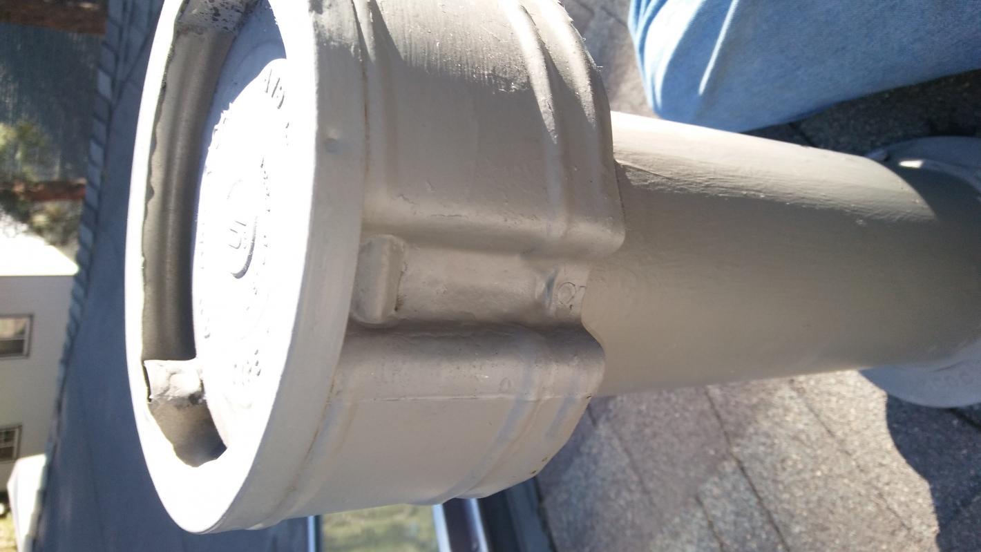 dryer venting through roof vent cap