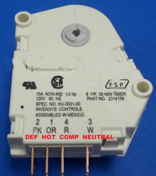 Whirlpool Refrigerator Defrost Timer Issue
