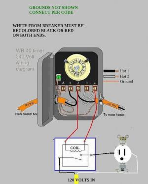 Wiring hot water heater pump to 240 circuit  DoItYourself