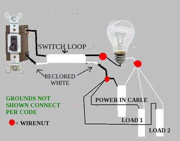 switch loop wiring switch image wiring diagram wiring diagram power light then switch wiring diagram on switch loop wiring
