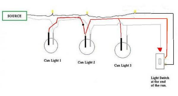 Wiring    Recessed    Lights In Series    Diagram