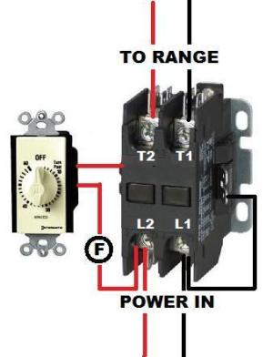 wiring a contactor on a timer  DoItYourself Community
