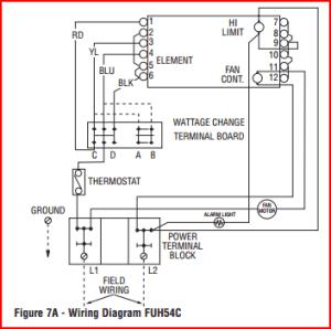 Low Voltage Thermostat on 5kw Farenheat Heater