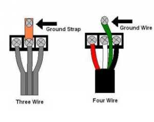 3 prong dryer cord head with a 4 wire cord where does the