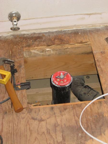 Rotten Subfloor Under Bathtub And Plumbing Wall
