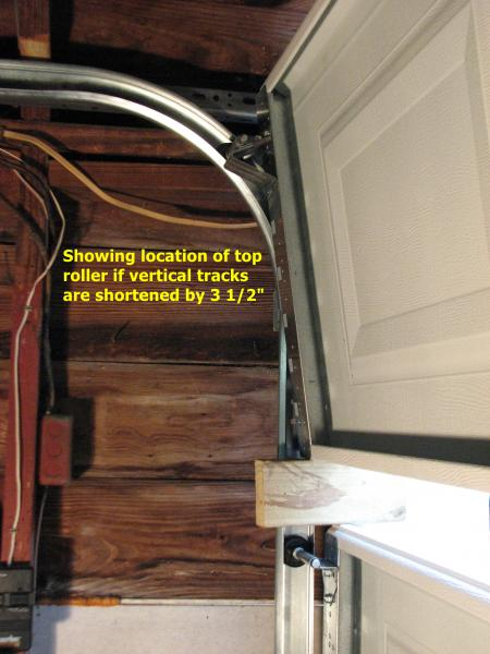 What Will Shortening Vertical Tracks Do To Door Operation