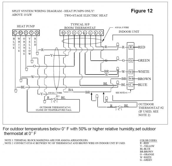 45077d1421559608 goodman outside thermostat question odt stat wiring diagram for heat pump system the wiring diagram york thermostat wiring diagram at n-0.co