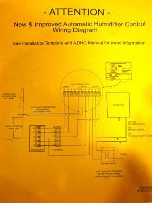 Aprilaire 500 Humidifier & Model 60 Humidistat Wiring help