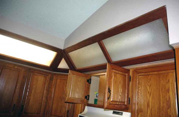 unusual soffit lighting in kitchen