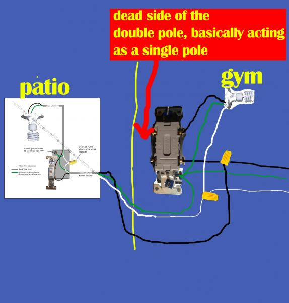 Comfortable double pole light switch diagram photos electrical diagrams500274 diagram of a single pole double pole switch sciox Image collections