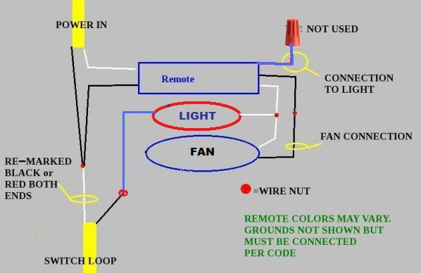 red wire ceiling fan with remote wiring diagram  clarion