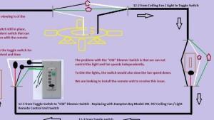 Universal remote ceiling fanlight installation diagram