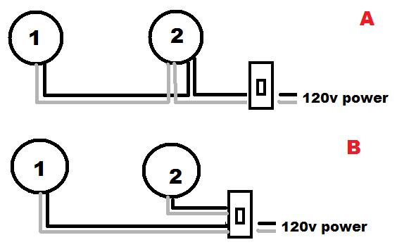 how to masterslave wire two motion sensor light fixtures