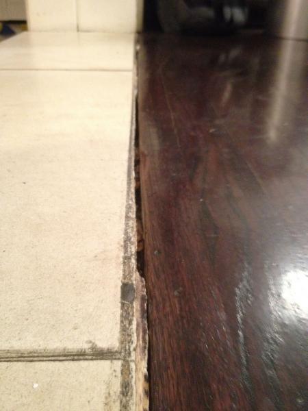 Wood Floor Into Stone Transition