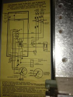 Rewiring Old Coleman Furnace for Filtrete 3M50 Thermostat