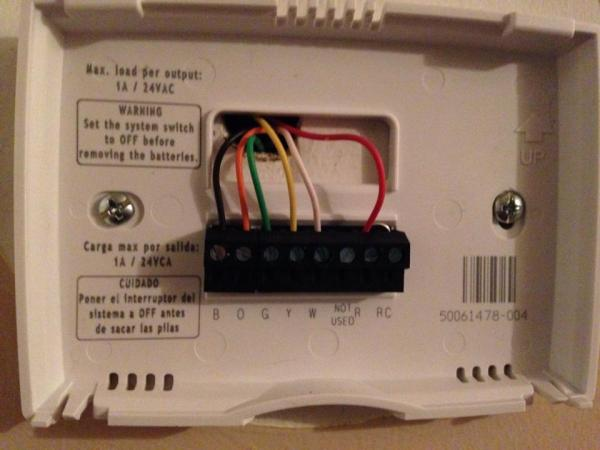 Wiring Diagram For Honeywell Thermostat Th5110d1006 : Honeywell rth b wiring diagram