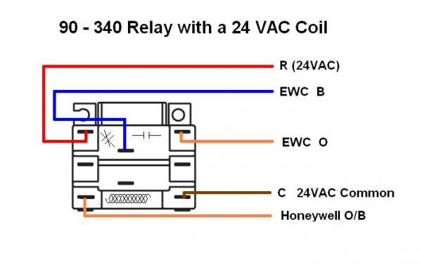 honeywell wifi thermostat i have two changeover valve wires