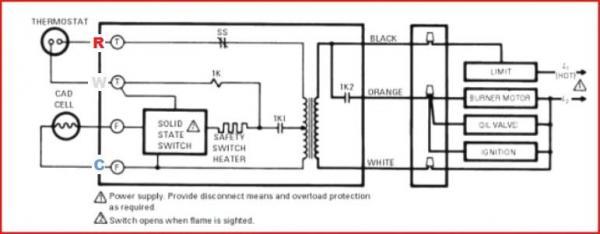 honeywell oil furnace wiring schematic oil burner parts schematic rh banyan palace com Honeywell R8184G Manual Honeywell R8184G Troubleshooting