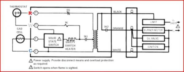 57582d1445206379 honeywell rth9580 wifi thermostat old oil burner furnace r8184g diagram?resize=600%2C234 how to install and wire the honeywell l4064b combination furnace honeywell fan center wiring diagram at n-0.co