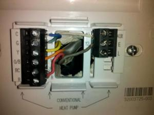 thermostat wiring help needed ASAP!!  DoItYourself Community Forums
