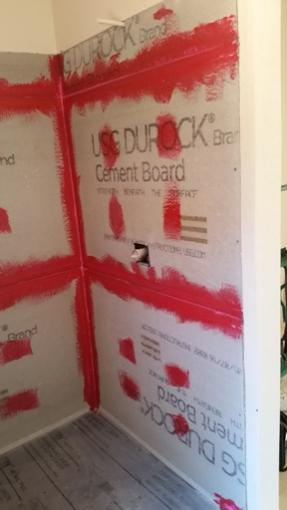 Bathroom Durock To Sheetrock Transition DoItYourself