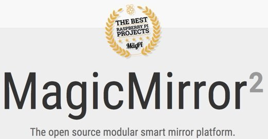 Magic Mirror 2 Logo von der Webseite magicmirror.builders