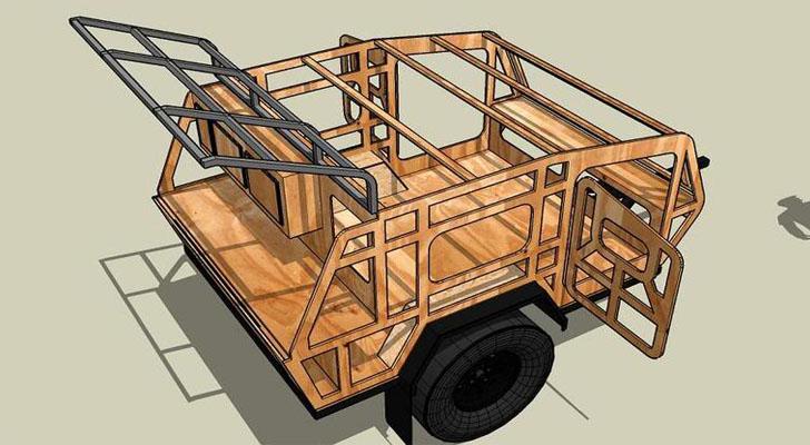 Diy Off Road Teardrop Camper Made For Rough Terrain