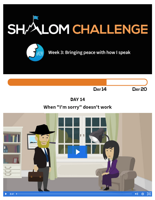 """CCHF Shalom Challenge Day 14: When """"I'm sorry"""" doesn't work 1"""