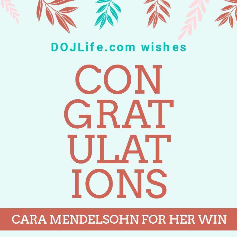 Congratulations to Cara Mendelsohn for Her Win 1