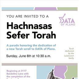 Hachnasas Sefer Torah at DATA of Plano