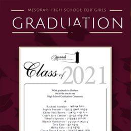 Mesorah High School for Girls Graduation